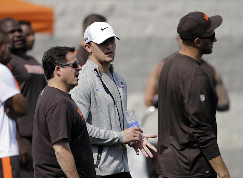 """Browns' Manziel: """"I've made some rookie mistakes"""""""