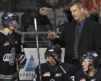 Darren Rumble was previously in the QMJHL with the defunct Lewiston MAINEiacs. (Seattle Thunderbirds photo)