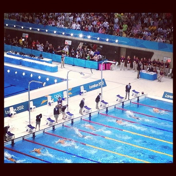 """Via @SummerSanders_: """"Here's a snapshot of @MichaelPhelps' last solo finish in the pool."""""""