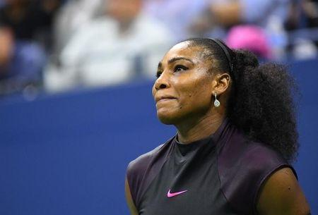 Sept 8, 2016; New York, NY, USA;   Serena Williams of the USA reacts late in the second set tie break against Karolina Pliskova of the Czech Republic on day eleven of the 2016 U.S. Open tennis tournament at USTA Billie Jean King National Tennis Center. Mandatory Credit: Robert Deutsch-USA TODAY Sports/files