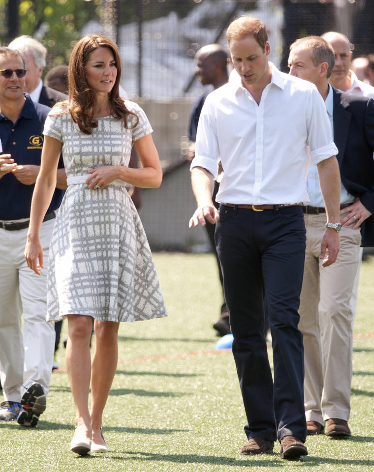 LONDON, UNITED KINGDOM - JULY 26: Catherine, Duchess of Cambridge and Prince William, Duke of Cambridge visit Bacon's College on July 26, 2012 in London, England. (Photo by Indigo-Pool/Getty Images)