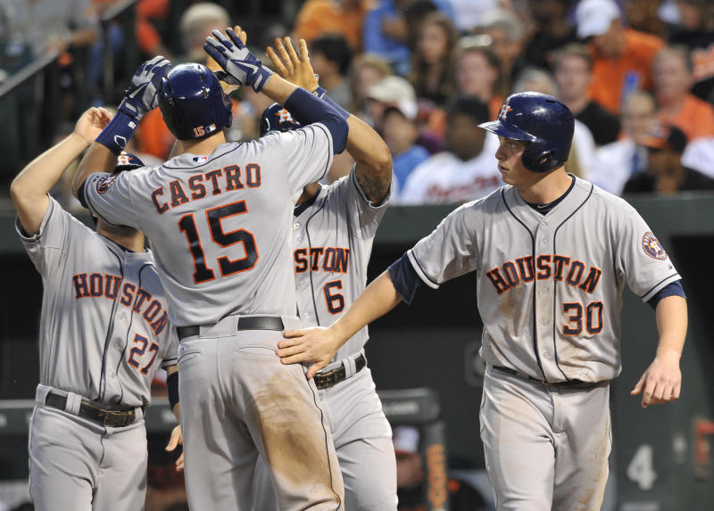 Astros hit 3 HRs in 11-0 rout of Orioles