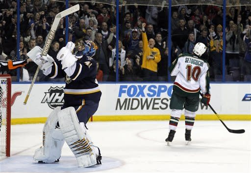 Shattenkirk's SO goal lifts Blues over Wild