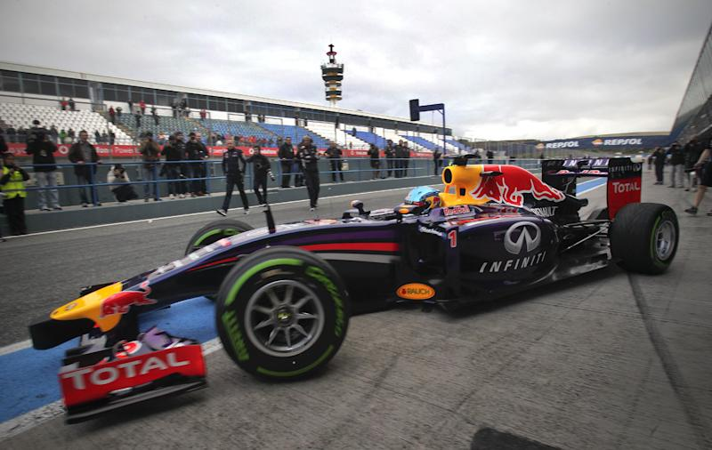 Red Bull sputters out of Jerez test early