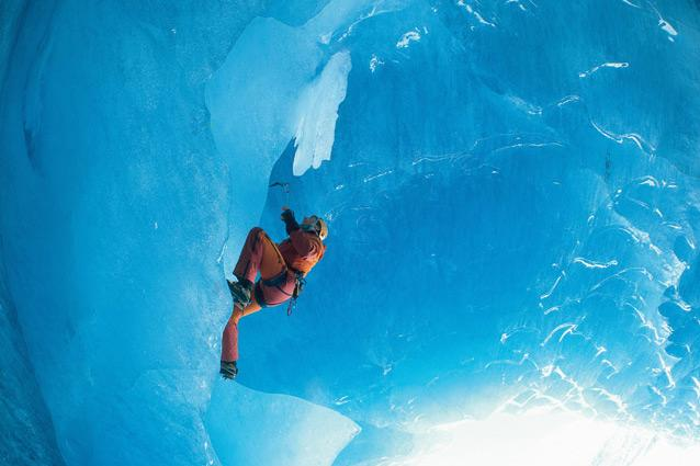 Ice climbing. Photo: Swiss Tourism - The rush: It's rock-climbing, but with a difference: ascending glaciers or frozen waterfalls offers a whole new challenge. Season: January to February CNT tip: Beginners should take the five-day Ice Climbing Skills course offered by the International School of Mountaineering in the winter. (www.alpin-ism.com)