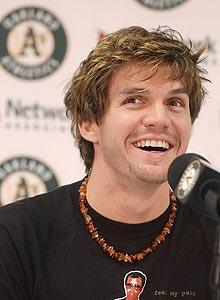 Zito was drafted by Oakland in the first round in 1999; he won the AL Cy Young Award in 2002 after winning 23 games