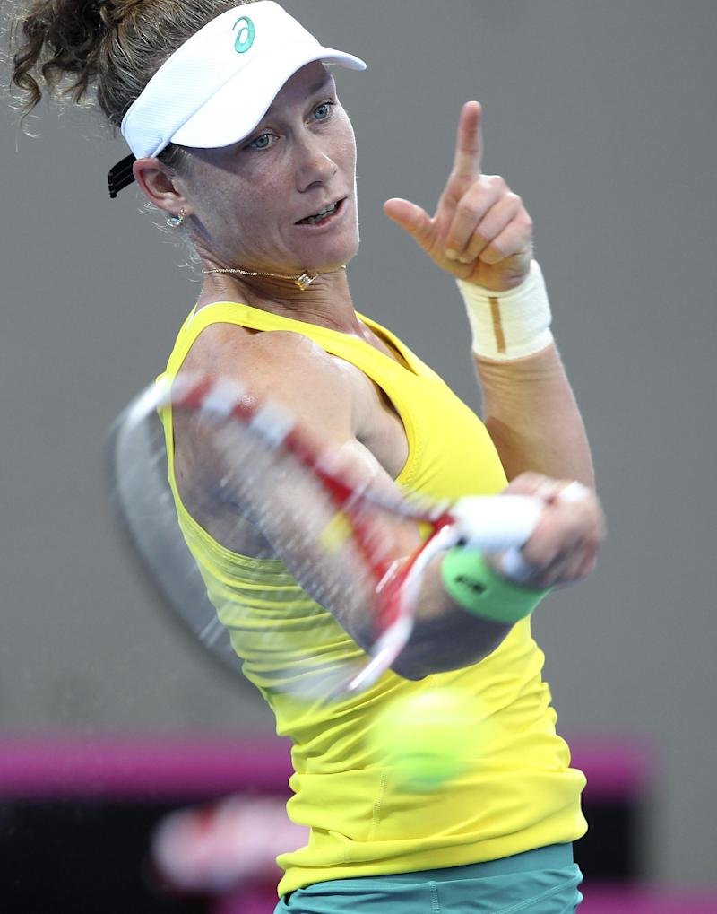 Fed Cup: Germany leads Australia 2-0 in semifinal