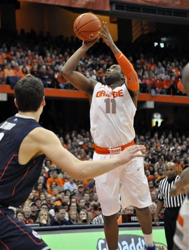 Jardine helps No. 2 Syracuse tops UConn 85-67