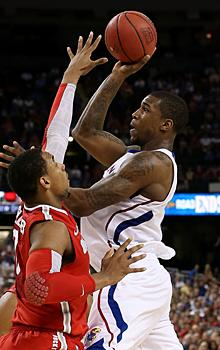 Thomas Robinson poured in 19 points to lead the Jayhawks as they rallied past Ohio State