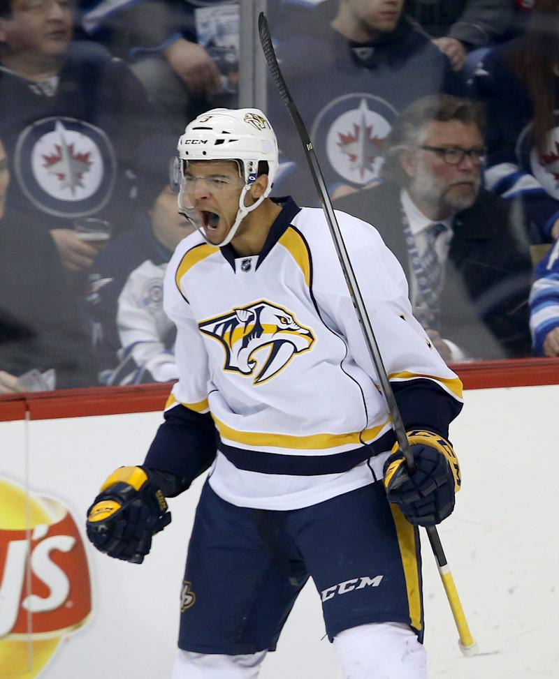 Fisher's goal in 3rd sends Predators past Jets 4-3