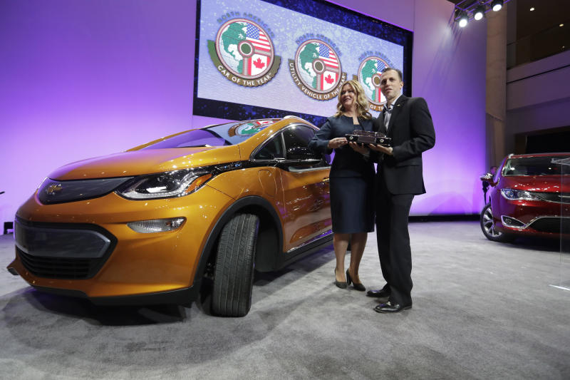 Chevy Bolt named vehicle  of the Year at the Detroit Auto Show