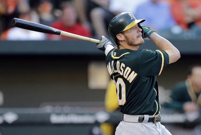 Athletics beat Orioles 4-3 in 11 innings