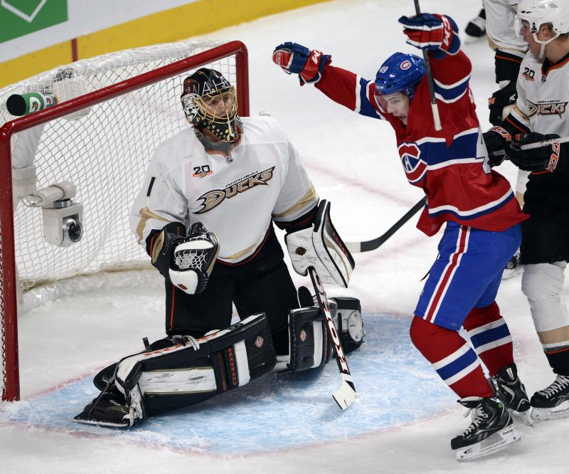 Price has 31 saves and Canadiens top Ducks 4-1
