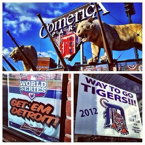 Comerica Park, World Series Game 3, via @KevinKaduk