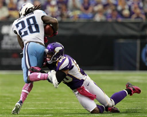 Harvin, Vikings take down Titans 30-7 to go to 4-1