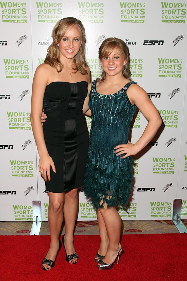 (L-R) Gymnasts Nastia Liukin and Shawn Johnson attend the 29th annual Salute to Women in Sports Awards presented by the Women's Sports Foundation at The Waldorf-Astoria Hotel on October 14, 2008 in New York City.