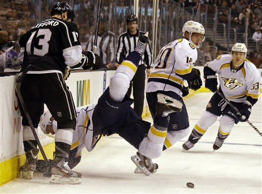 Preds end skid, beat Kings 2-1 in 8-round shootout