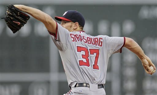 Strasburg Ks 13 as Nationals beat Red Sox 7-4