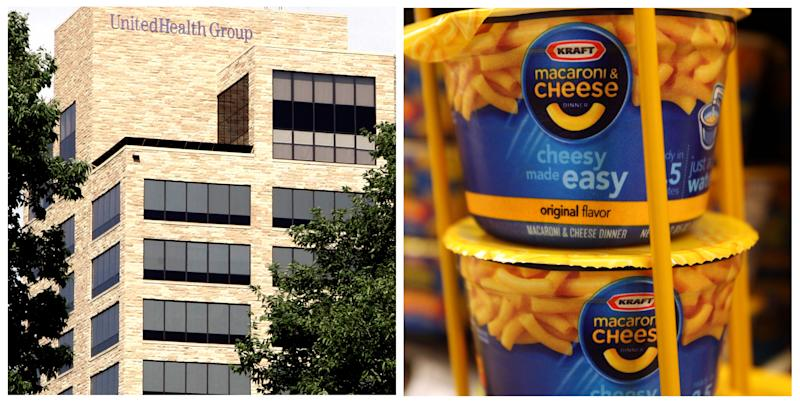 Dow average dumps Kraft Foods for UnitedHealth