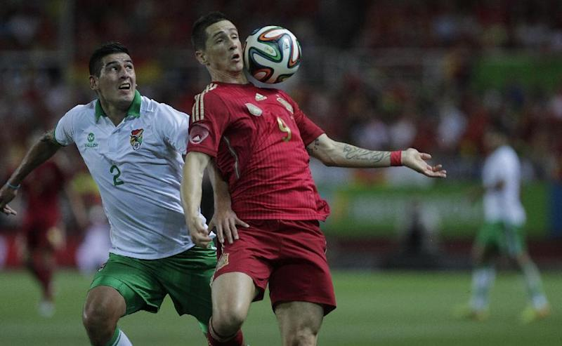Spain warms up for WCup with 2-0 win over Bolivia