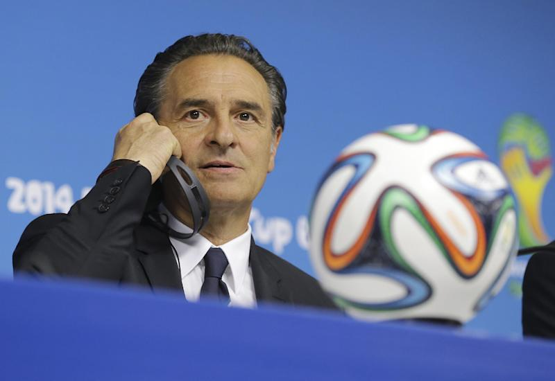 Prandelli: Italy 'will suffer' vs Costa Rica