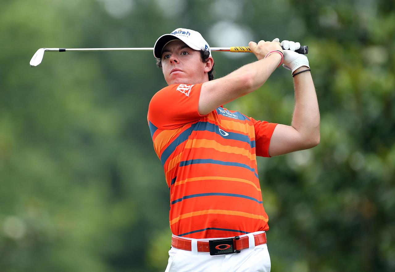 MEMPHIS, TN - JUNE 08:  Rory McIlroy of Northern Ireland hits his tee shot on the par 3 8th hole during the second round of the FedEx St. Jude Classic at TPC Southwind on June 8, 2012 in Memphis, Tennessee.  (Photo by Andy Lyons/Getty Images)