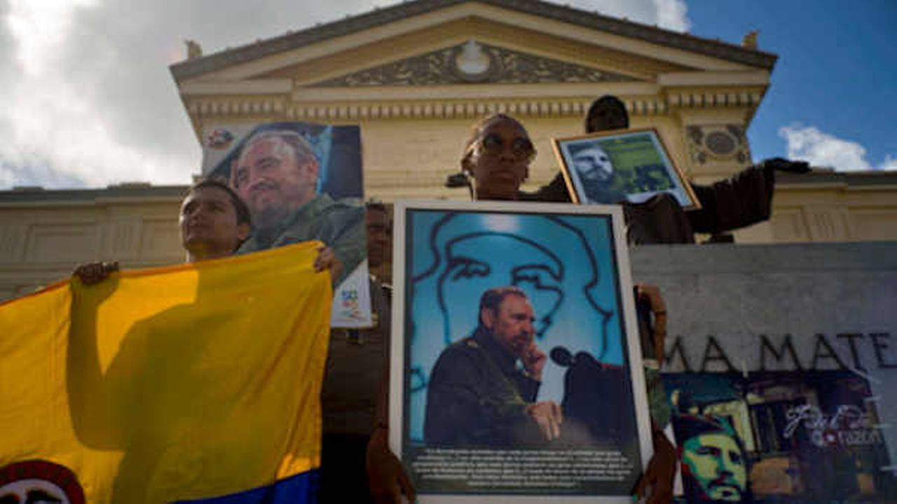 Workers spruced up the Cuban capital's sprawling Revolution Plaza and began setting up fencing Sunday in preparation for two days of tributes to deceased leader Fidel Castro.