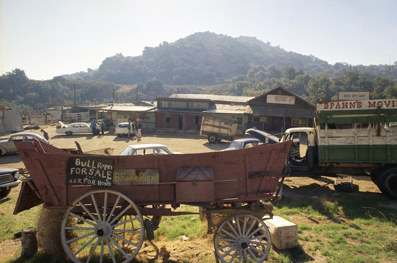 """This is the Spahn movie ranch near Chatsworth, a Los Angeles suburb, shown Dec. 11, 1969, where Charles Manson and his """"family"""" of hippies lived at the time actress Sharon Tate and seven others were slain. (AP Photo)"""