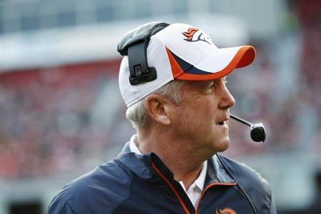 Denver Broncos coach Fox watches from the sideline during their NFL pre-season football game against San Francisco 49ers in San Francisco