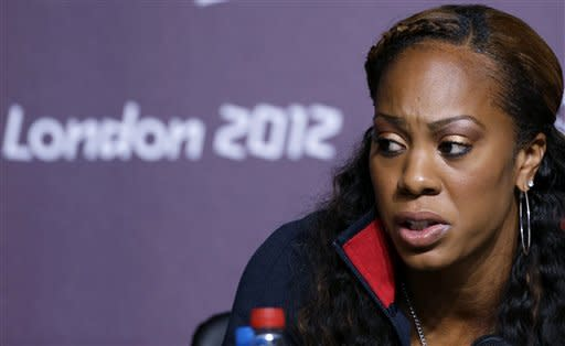 U.S. runner Sanya Richards-Ross is part of a campaign demanding changes in Olympic social media rules. (AP)