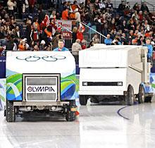 Olympics clear the ice with Zamboni