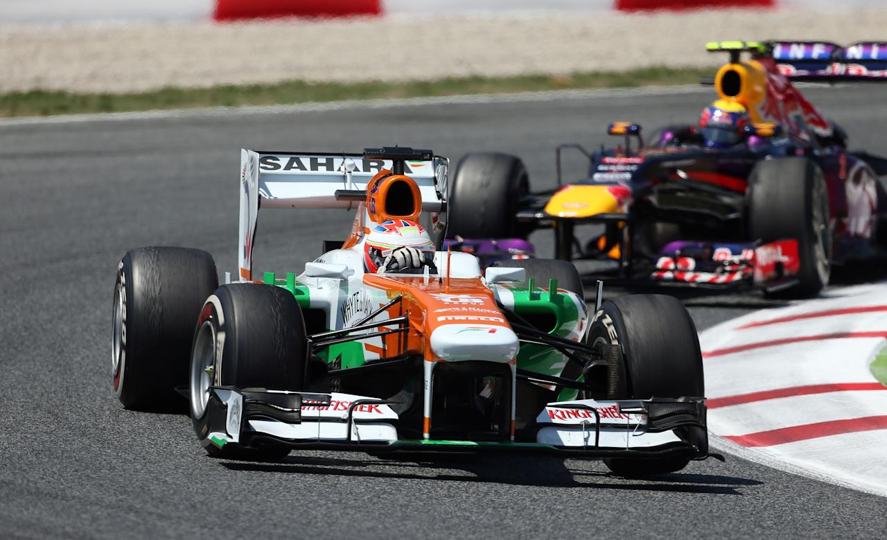 Force India's Paul Di Resta during the Spanish Grand Prix at the Circuit de Catalunya, Barcelona, Spain.