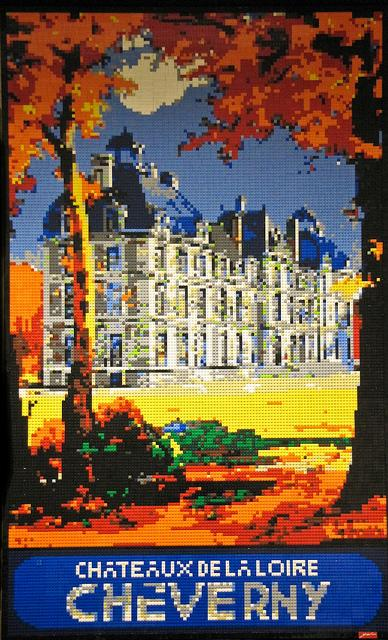 A Mosaic made in LEGO of the Chateaux de la Loire Cheverny by Dave Ware
