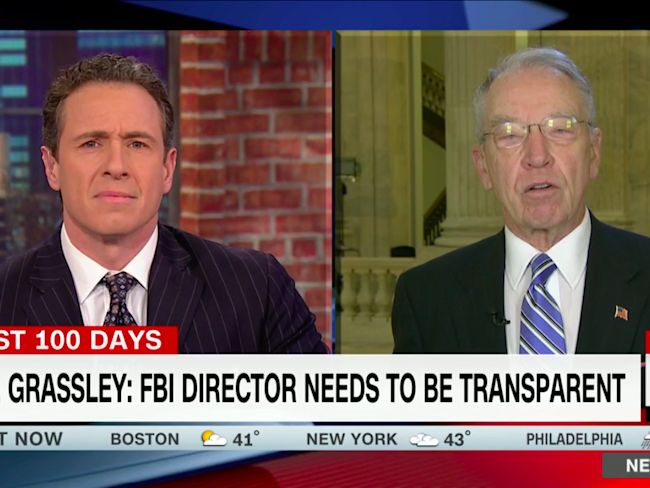 Grassley calls for more transparency from Comey