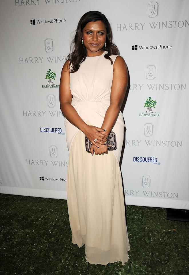 CULVER CITY, CA - NOVEMBER 03:  Actress Mindy Kaling attends the 1st annual Baby2Baby gala at Book Bindery on November 3, 2012 in Culver City, California.  (Photo by Jason LaVeris/FilmMagic)