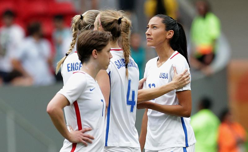 U.S. women's soccer out of Rio Olympics after stunning loss to Sweden