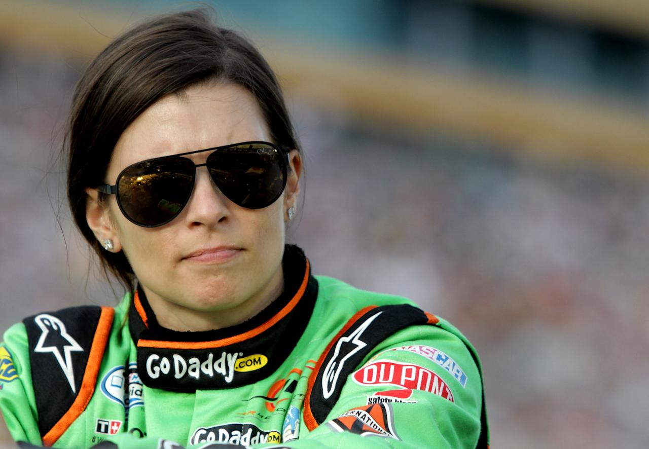 HOMESTEAD, FL - NOVEMBER 17:  Danica Patrick, driver of the #7 GoDaddy.com Chevrolet, looks on prior to the NASCAR Nationwide Series Ford EcoBoost 300 at Homestead-Miami Speedway on November 17, 2012 in Homestead, Florida.  (Photo by Jerry Markland/Getty Images for NASCAR)