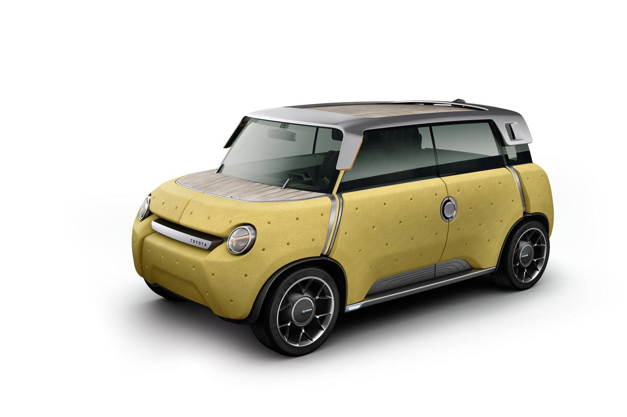 The rear bench can come out for hauling cargo or use as a picnic seat; the entire car can be cleaned inside and out with a hose. And as Toyota's own renderings show, the stubby ME.WE's plastic panels that double as crash padding lend themselves to a Philippe Stark-with-Play-doh sculpting.
