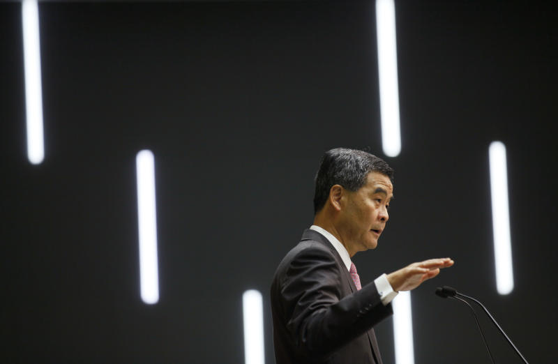 Unpopular HK leader tries to soothe housing anger