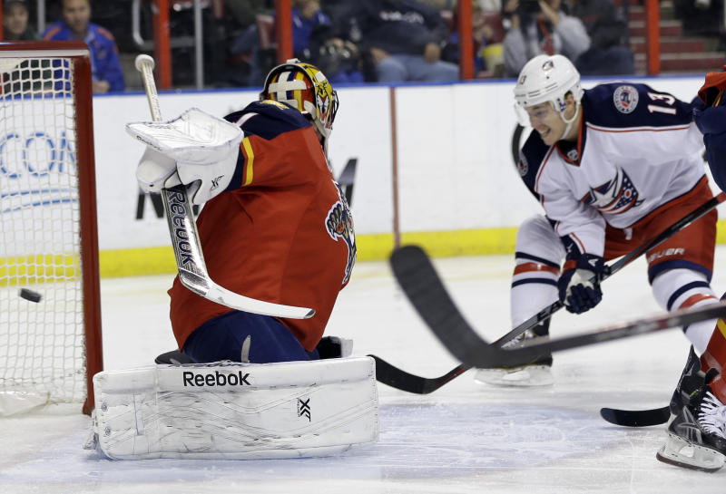Johansen lifts Blue Jackets past Panthers, 3-2