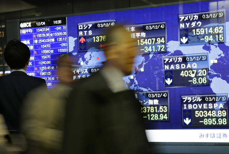 Asian stocks down over fears of Fed stimulus cut