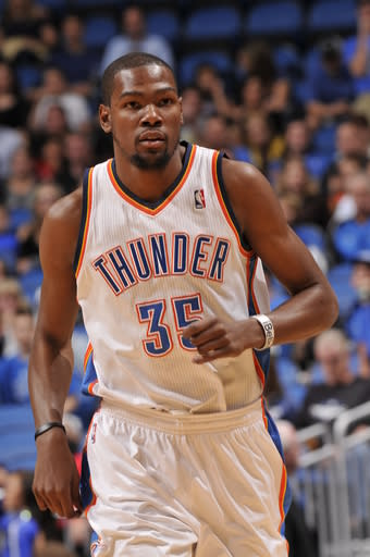 Durant's 25 lift Thunder over Magic, 97-89