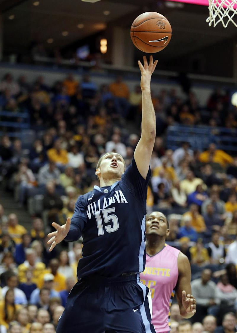 No. 4 Villanova holds off Marquette, 94-85 in OT