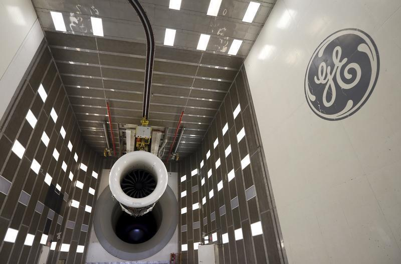 General view of General Electric GEnx-747 engine before a test at the GE Aviation Peebles Test Operations Facility in Peebles, Ohio
