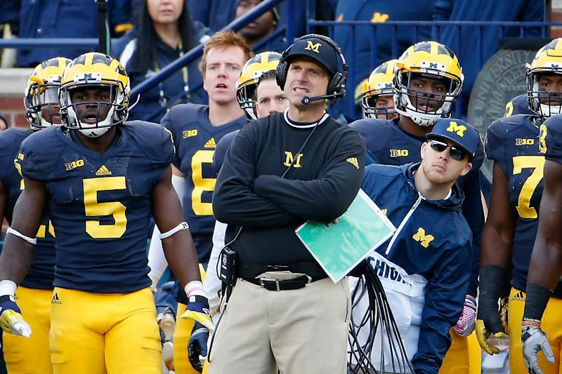 Jim Harbaugh is college football's highest paid coach on $9ma year