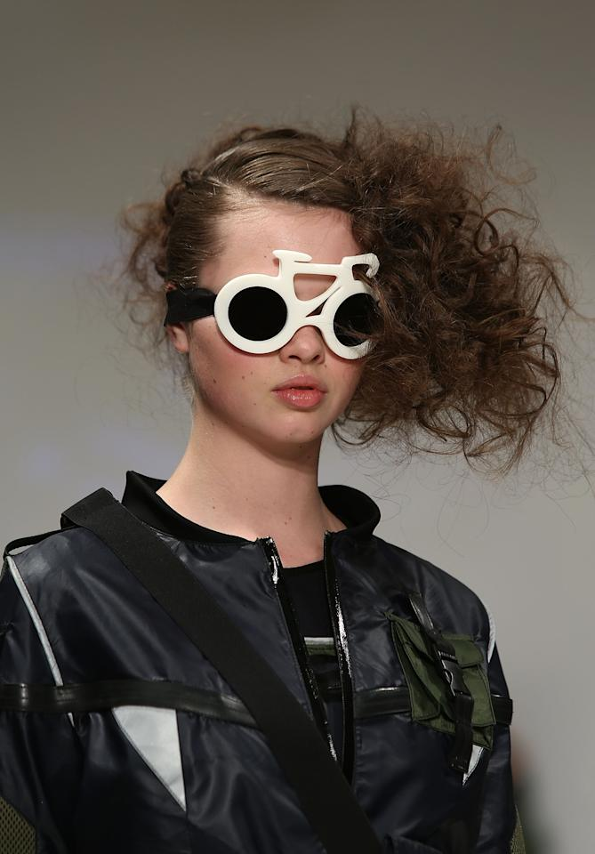 LONDON, ENGLAND - FEBRUARY 19:  A model walks the runway at the Fad show showcasing designs by fifteen fashion students across the UK during London Fashion Week Fall/Winter 2013/14 at Freemasons Hall on February 19, 2013 in London, England.  (Photo by Tim Whitby/Getty Images)