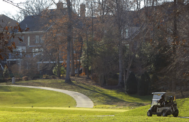 GOOD LIFE: Suburbs such as Potomac, Maryland, have thrived along with government lobbyists, who reported $3.3 billion in fees last year. REUTERS/Gary Cameron