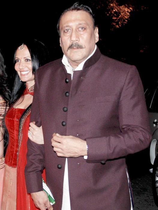 It was after a long while that we spotted Jackie with his wife Ayesha