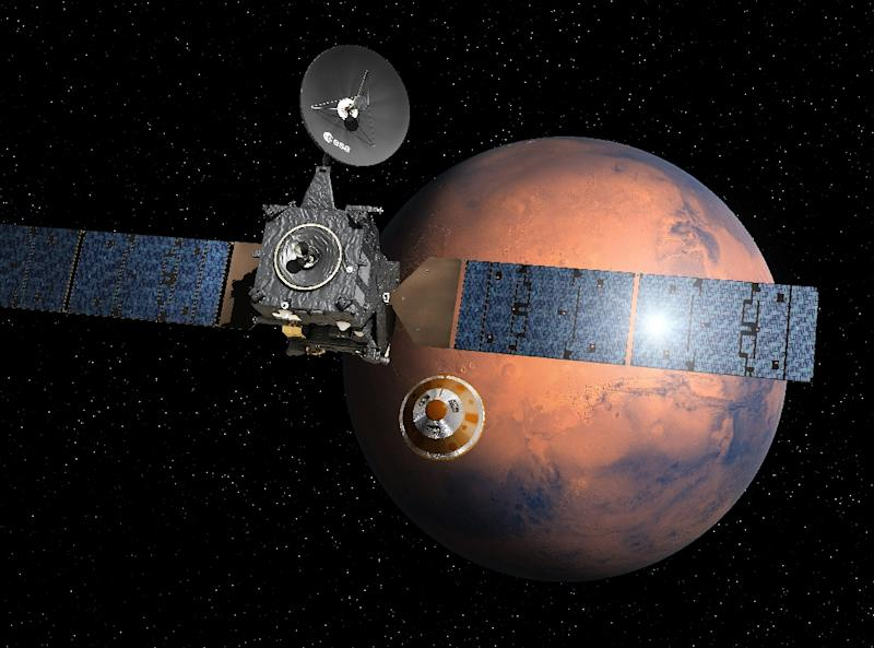 Mars ESA probe lands on Red Planet