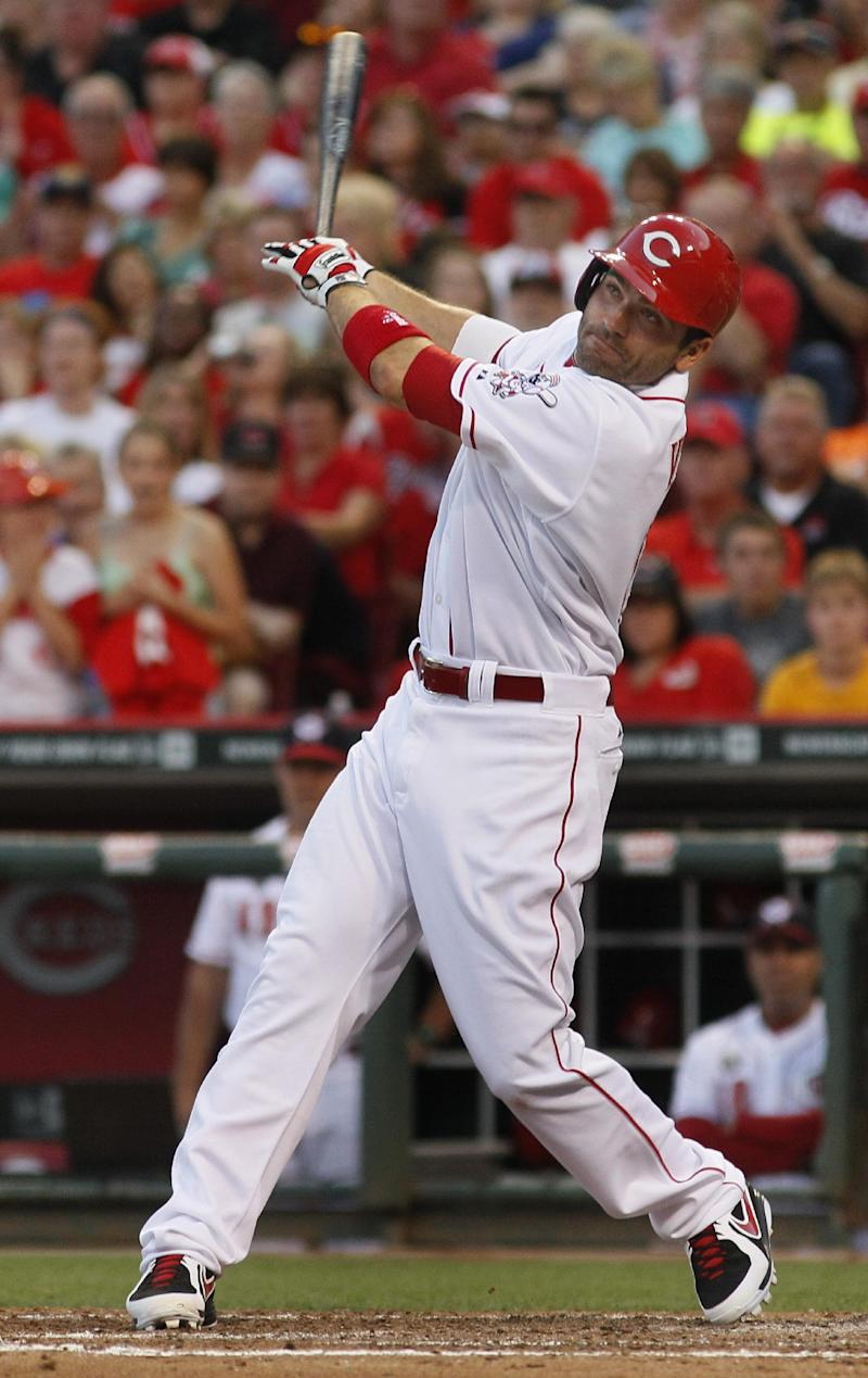 Reds put Joey Votto back on DL with leg injury
